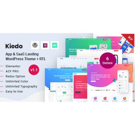 Kiedo - Uygulama ve SaaS Açılışı WordPress Teması