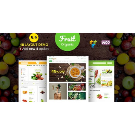 Food Fruit - Organik Çiftlik, Doğal Woo Commerce Word Press Teması
