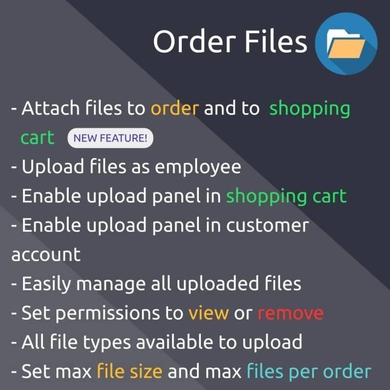 Sipariş veya Alışveriş Sepetine Dosya Yükleme