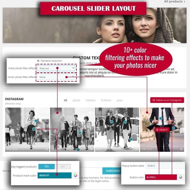 İnstagram Mağaza Alışveriş Kaydırıcı Modülü