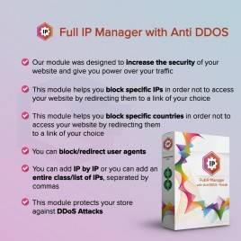 Anti DDOS Modülü ile Tam IP Yöneticisi