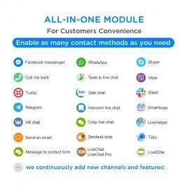 Hepsi Bir Arada - Canlı Sohbet, WhatsApp, Geri Arama, Messenger Modülü